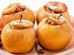 Пълнени печени ябълки с орехи пекан,стафиди, мед и кафява захар - снимка на рецептата